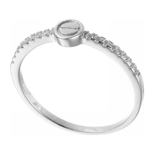 JV Кольцо с фианитами из серебра R-FY1262-001-WG, размер 17 jv кольцо с фианитами из серебра r25193 r 001 wg размер 17