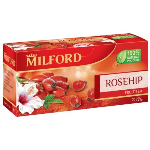 Чай фруктовый Milford Rosehip в пакетиках, 40 г, 20 шт. чай зеленый milford wellness в пакетиках 20 шт