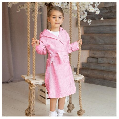 Фото - Халат Baby Nice размер 98-104, розовый аксессуары для колясок baby nice конверт baby nice с меховой подкладкой розовый