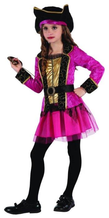 Костюм SNOWMEN Пиратка (Е96496/95/94), черный/розовый, размер 4-6 лет