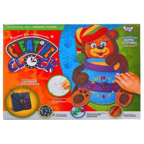 Купить Danko Toys Набор для творчества Creative clock Медвежонок (СС-01-05), Поделки и аппликации