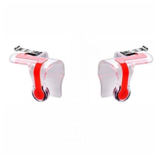 Триггеры с держателем для телефона COTEetCI G-5 Mechanical Game Joystick, белый/красный