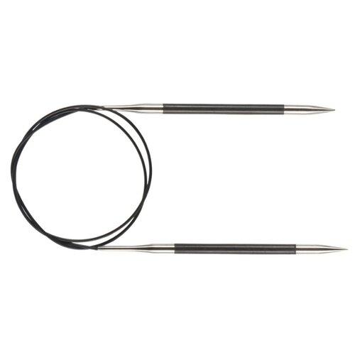 Спицы Knit Pro Karbonz 41175, диаметр 8 мм, длина 60 см, черный