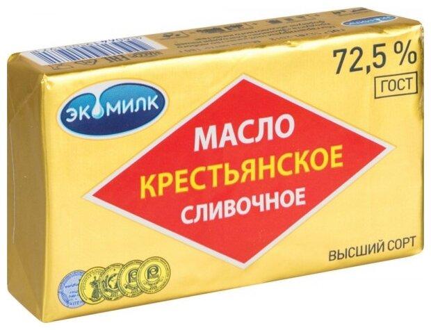 Экомилк Масло сливочное 72.5%, 180 г