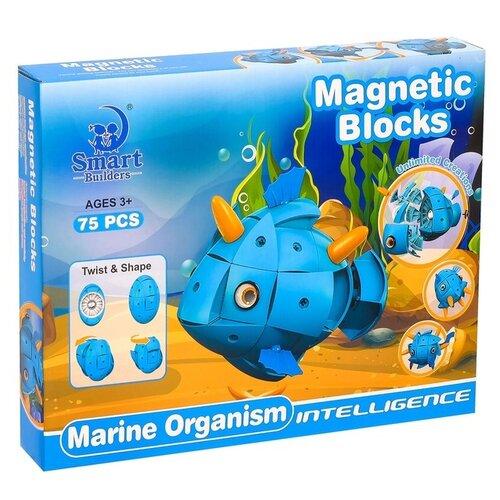 Магнитный конструктор Smart Builders Magnetic Blocks 303 Морские обитатели library builders