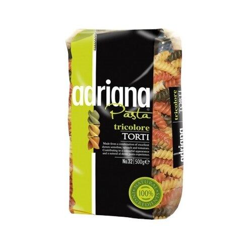 ADRIANA Макароны Pasta Tricolore Torti № 32 с томатами и шпинатом, 500 г