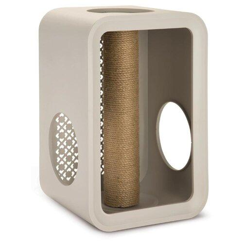 Игровой комплекс Beeztees Cube Scratch 49 х 29 х 32.6 см светло-серый совок beeztees для туалета зеленый 17 х 14 см