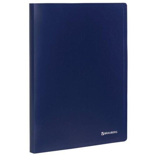 Купить BRAUBERG Папка на 2 кольцах Office А4, 25 мм Синяя, Файлы и папки