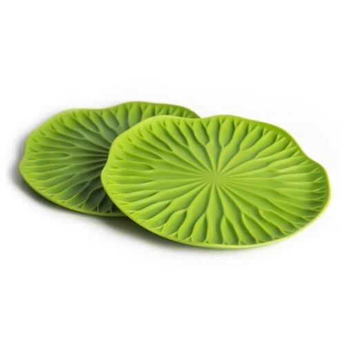 Подставка под бокал Qualy Lotus, 2 шт зеленый