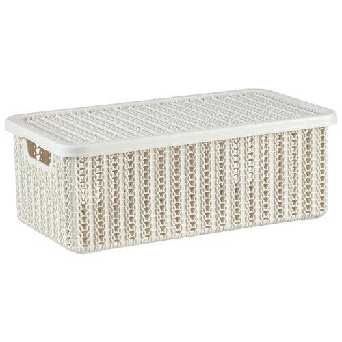 IDEA (М-Пластика) коробка Вязание М 2370 12,5x19,5x35 см белая