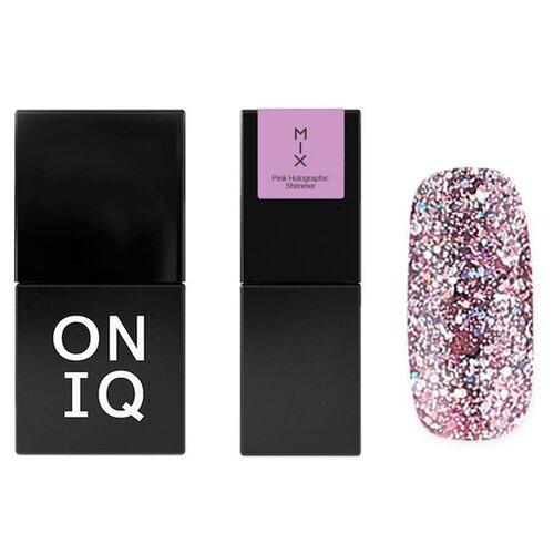 Гель-лак для ногтей ONIQ MIX, 10 мл, 102 Pink Holographic Shimmer гель лак для ногтей oniq mix 6 мл 104s green and pink yuki flakes