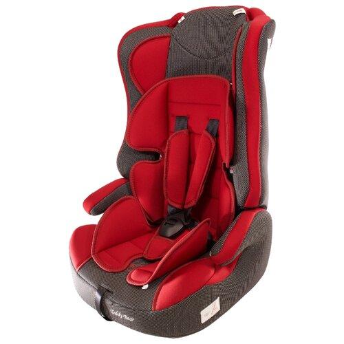 Купить Автокресло группа 1/2/3 (9-36 кг) Мишутка LB 513RF, 39 deep red/black dot, Автокресла