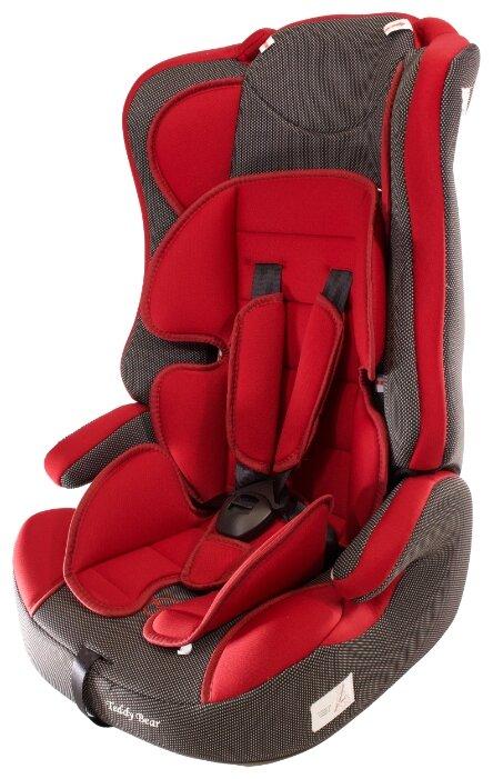 Купить Автокресло группа 1/2/3 (9-36 кг) Мишутка LB 513RF, 39 deep red/black dot по низкой цене с доставкой из Яндекс.Маркета