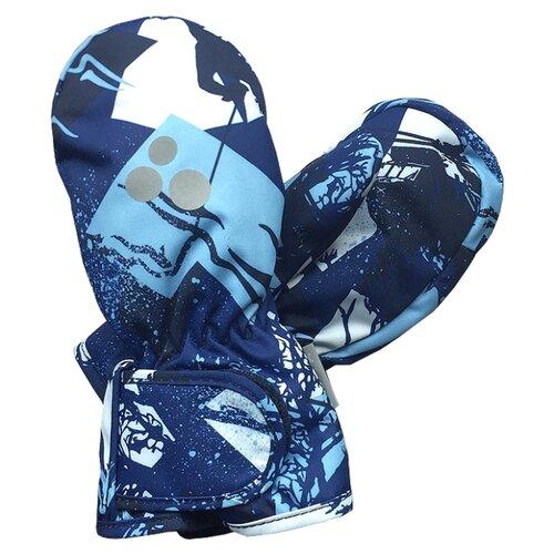 Варежки Huppa размер 3, 72586 navy pattern варежки детские huppa liina цвет синий 8104base 60035 размер 5