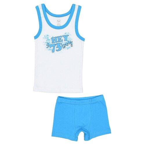 Купить Комплект нижнего белья RuZ Kids размер 128-134, белый/гавайский голубой, Белье и пляжная мода