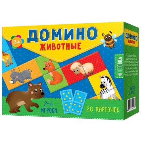 Купить Настольная игра ГеоДом Домино. Животные, Настольные игры
