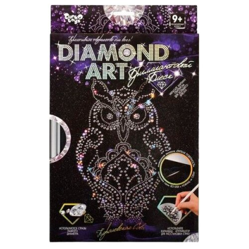 Купить Danko Toys Набор алмазной вышивки Diamond Art Сова (DAR-01-02), Алмазная вышивка