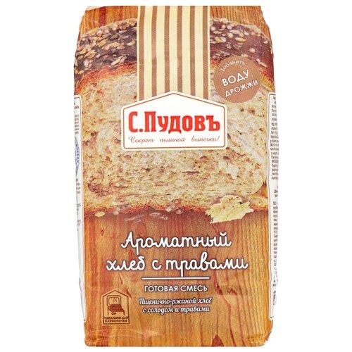 С.Пудовъ Смесь для выпечки хлеба Ароматный хлеб с травами, 0.5 кг фото