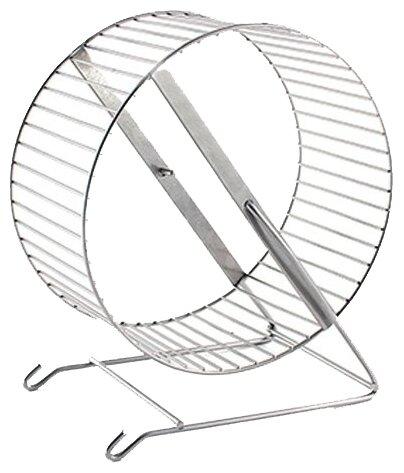 Игрушка для грызунов Дарэлл Колесо на подставке, металл, 20 см