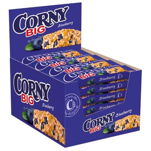 Фото - Злаковый батончик Corny Big Blueberry с черникой, 24 шт злаковый батончик corny big cranberry с клюквой 24 шт