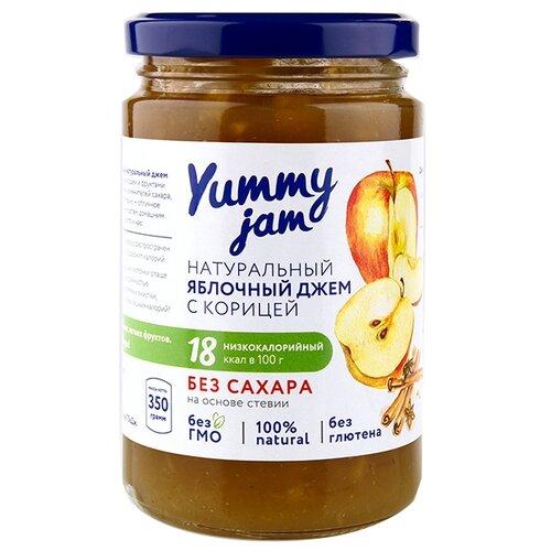 Джем Yummy jam натуральный яблочный с корицей без сахара, банка 350 г