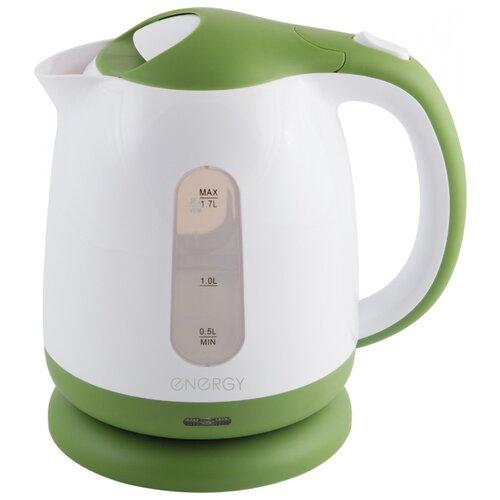 Фото - Чайник Energy E-293, белый/зеленый чайник energy e 281 белый голубой