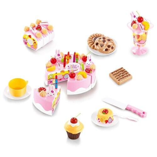Набор продуктов с посудой ABtoys Помогаю маме PT-01229 белый/розовый/коричневый