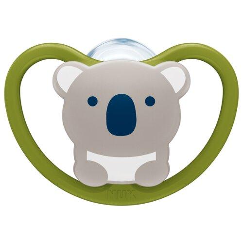 Купить Пустышка силиконовая ортодонтическая NUK Space 0-6 м (1 шт) коала, Пустышки и аксессуары