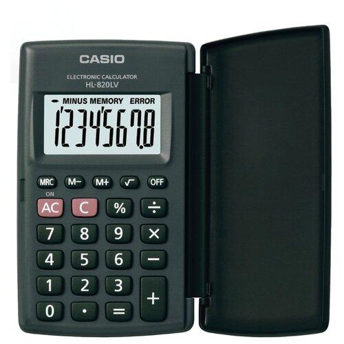 Купить Калькулятор карманный CASIO HL-820LV-BK-S черный