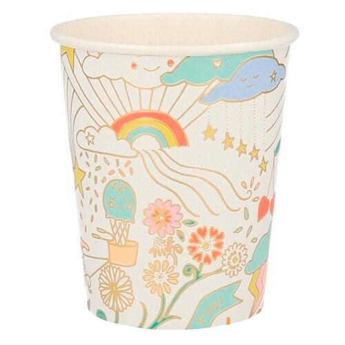 Стаканы Веселые принты Meri Meri стаканы пастельные высокие meri meri