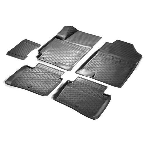 Комплект ковриков RIVAL 12305007 5 шт. черный