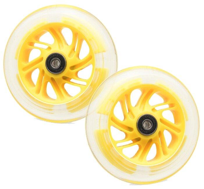 Колесо для самоката Trolo Maxi светящиеся передние, 120 мм, комплект (2 шт.)