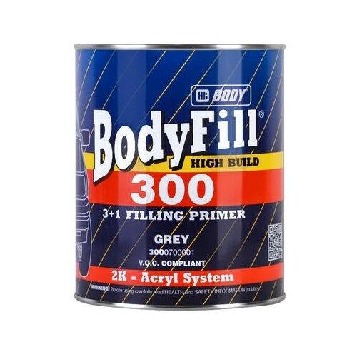 Грунт-наполнитель HB BODY 300 3+1, 2 шт. серый 1 л грунт праймер hb body 960 комплект 2 шт светло жёлтый 1 л