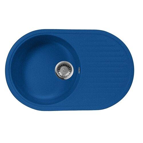 Врезная кухонная мойка 73 см А-Гранит M-18 синий