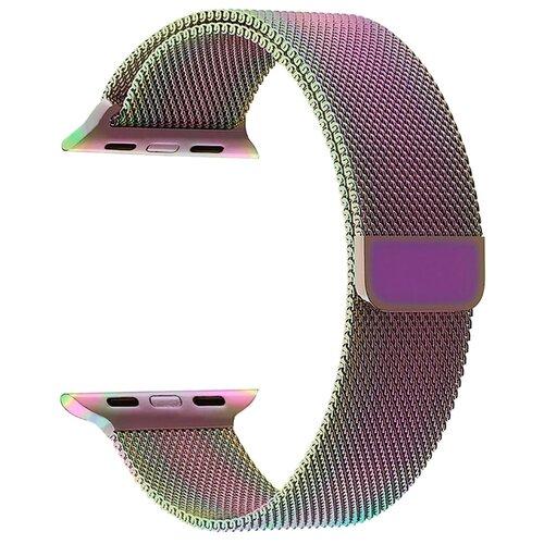 Фото - Lyambda Ремешок из нержавеющей стали Capella для Apple Watch 38/40 mm seven color смотреть ремешок ремешок весна бар ссылка pin remover ремонт инструмента из нержавеющей стали