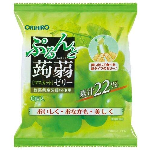 Желе Orihiro из конняку Мускат 0%, 6 шт.