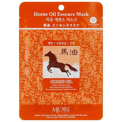 Купить MIJIN Cosmetics тканевая маска Horse Oil Essence, 23 г