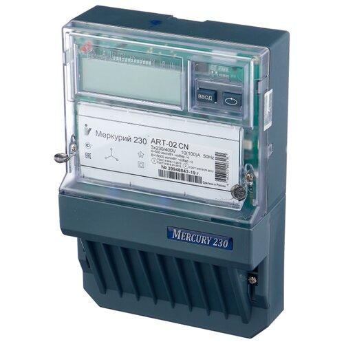 Фото - Счетчик электроэнергии трехфазный многотарифный INCOTEX Меркурий 230 ART-02 CN 10(100) А счетчик электроэнергии однофазный многотарифный incotex меркурий 206 rn 5 60 а