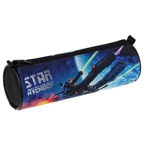 Купить Berlingo Пенал-тубус Star avenger (PM04733) черный/синий, Пеналы