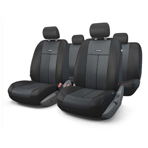 Комплект чехлов AUTOPROFI TT-902M черный аксессуары для автомобиля autoprofi автомобильные чехлы tt airbag tt 902m 9 предметов