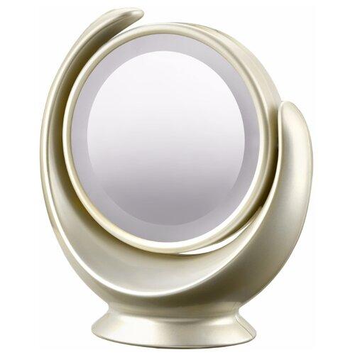 Зеркало косметическое настольное MARTA MT-2360 с подсветкой молочный жемчуг зеркало косметическое настольное marta mt 2653 с подсветкой молочный жемчуг
