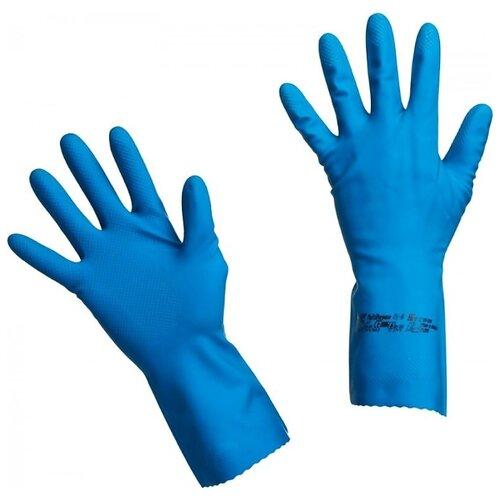 Перчатки Vileda Professional Многоцелевые, 1 пара, размер L, цвет синий перчатки vileda style 1 пара размер l цвет розовый