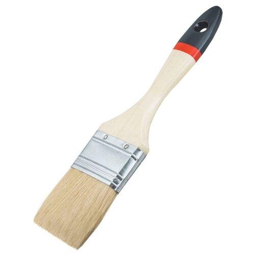 Кисть VIRTUS Expert, натуральная щетина, деревянная рукоятка, 001003075, 75 мм, бежевый цена 2017