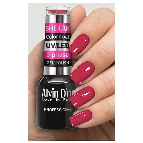 Фото - Гель-лак для ногтей Alvin D'or She-Lak Color Coat, 8 мл, оттенок 3527 гель лак для ногтей cosmoprofi color coat 15 мл оттенок 027