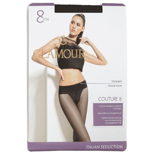 цена на Колготки Glamour Couture 8 den, размер 4-L, nero (черный)
