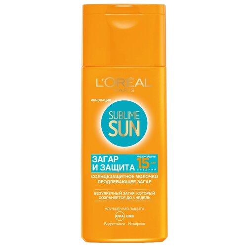 Купить L'Oreal Paris Sublime Sun солнцезащитное молочко Загар и Защита SPF 15 200 мл