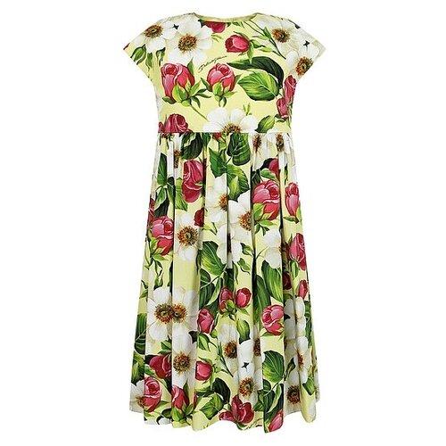Платье DOLCE & GABBANA размер 140, желтый/цветочный принт