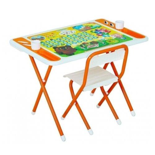 Комплект ДЭМИ стол + стул Damibaby evro Винни Пух 80x55 см белый/оранжевый