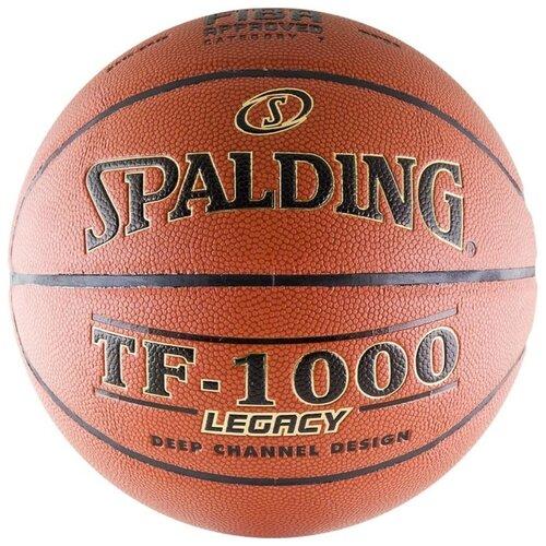 Баскетбольный мяч Spalding TF-1000 Legacy, р. 7 коричневый/черный/золотистый