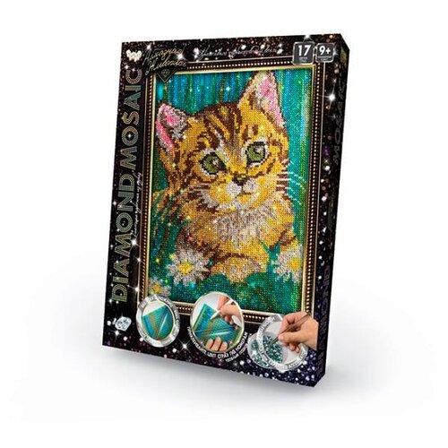 Купить Danko Toys Набор алмазной вышивки Diamond Mosaic Котенок (DM-02-06) 22х30, 5, Алмазная вышивка
